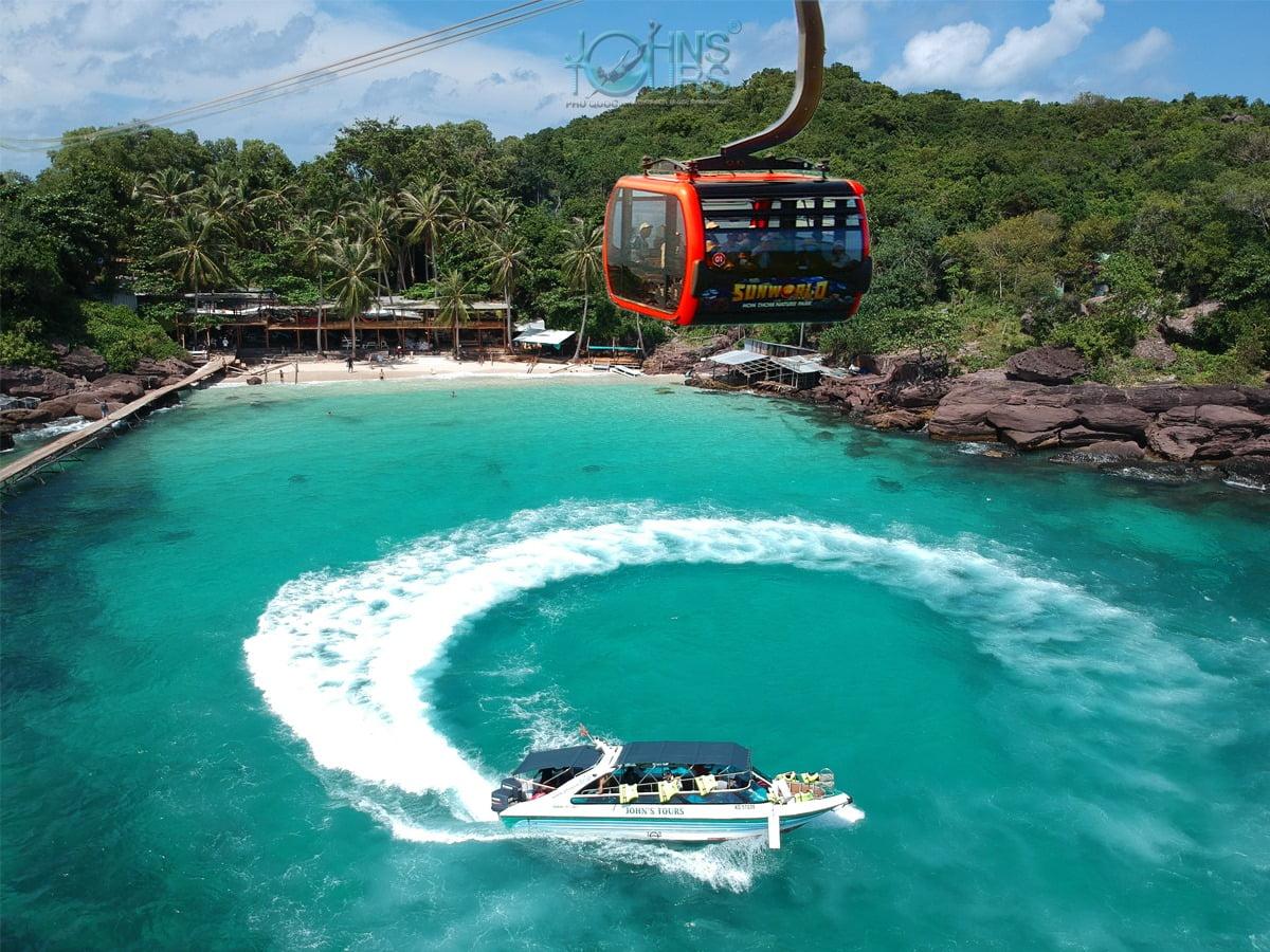 Tour cano 4 đảo & Cáp treo + Công viên nước Aquatopia