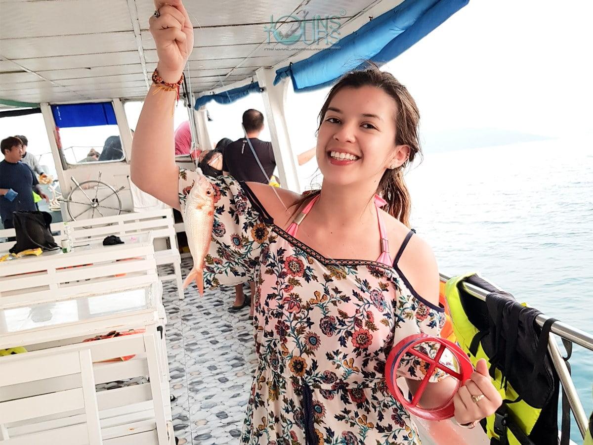 Câu cá, lặn ngắm san hô phía Nam Đảo